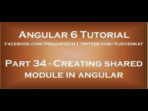 Creating shared module in angular