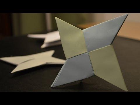 How to Make a Paper Ninja Star/Shuriken