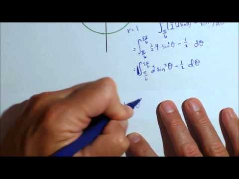 Area Between Polar Curves with Definite Integral