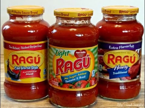 DIY homemade ragu or prego spaghetti sauce