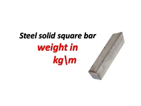 Steel solid square bar weight in kg\m