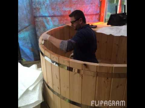 DIY , self build, build yourself wood burning hot tub.