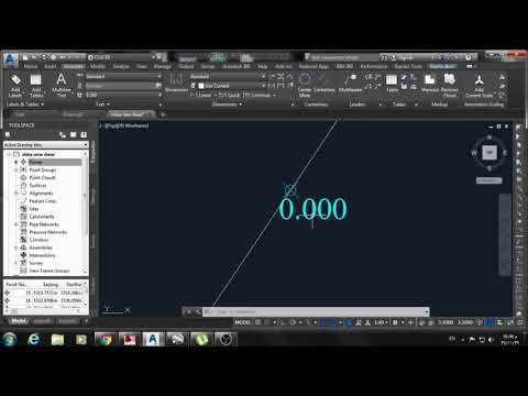 AutoCAD Civil 3D | Create Coordinate points and get them in a table.