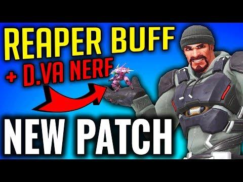 Huge Reaper Buff + D.VA Nerfed [New Overwatch Patch]