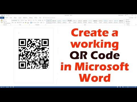 Create A Working QR Code In Microsoft Word