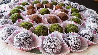 كرات الشوكولاته ( راس العبد ) سهلة التحضير طيبة ولذيذة جربوها Chocolate balls ( الحلقة 129 )