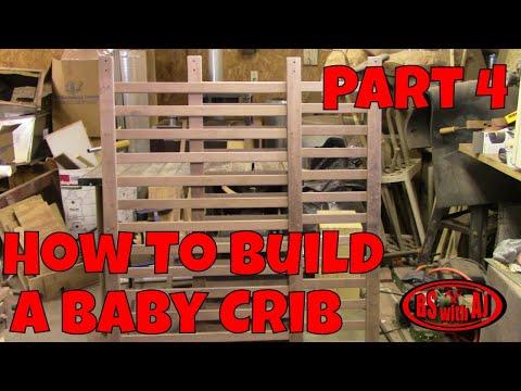 Walnut Baby Crib Part 4!!