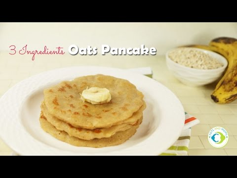 3 Ingredients Oats Pancake for Babies, Toddlers and Kids - Eggless | 8 months Baby Food