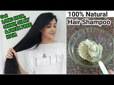 Natural and Herbal Homemade Shampoo - No chemicals no parabens - Long silky and shiny hair