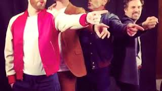 Download #Robert Downey Jr #Chris Evans #Chris Hemsworth #Mark Ruffalo Together Singing a beautiful song Video