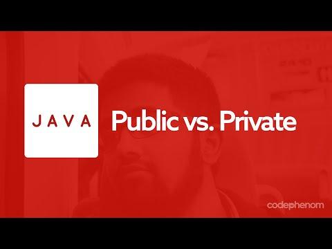 Java Series - 2 - Public vs. Private