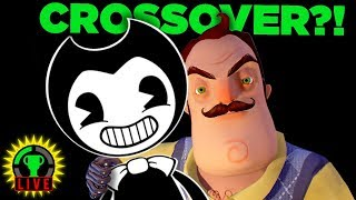 Bendy and The Neighbor TEAM UP! | Hello Neighbor & Bendy and the Ink Machine Official Crossover