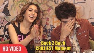 Sara Ali Khan and Kartik Aaryan CUTEST, FUNNIEST and HILARIOUS Moment   Back 2 Back CRAZIEST Moment