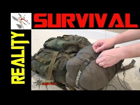 Survival Gear Tips: How To Tie A Sleeping Bag To An ALICE Pack