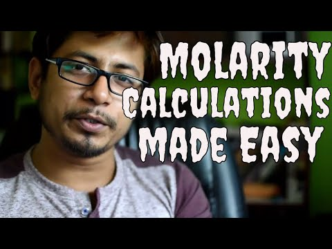 Molarity calculation formula and example | How to solve molarity problems?