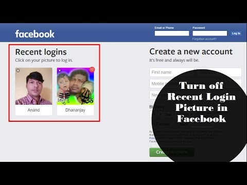 How to Turn off Profile Picture Login on Facebook