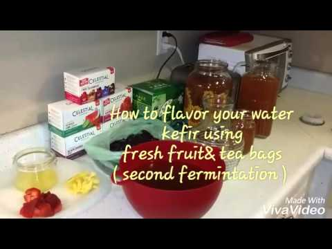 How to flavor kefir water (second fermintation )