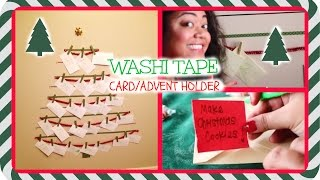 DOLLAR WASHI TAPE TREE | CARD HOLDER | ADVENT CALENDAR!