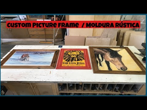 making a  picture frame / molduras