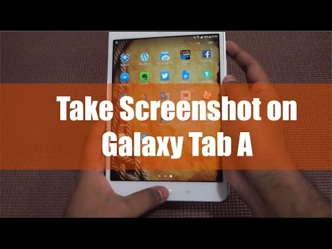 Take Screenshot on Galaxy Tab A