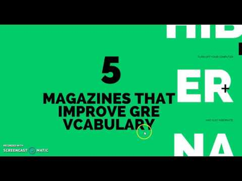 Top 5 Magazines that will Improve you Vocabulary for the GRE