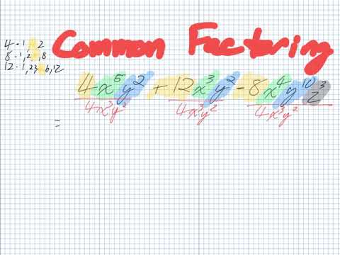 Common Factoring (Grade 10 Academic)