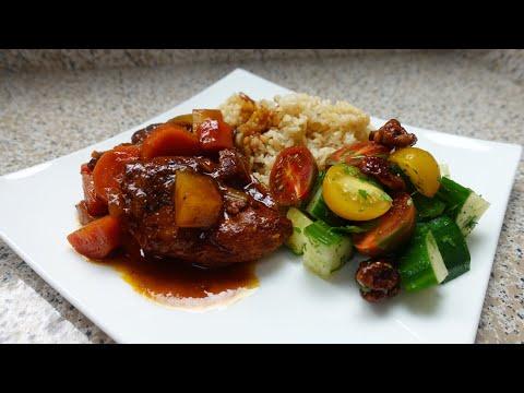 Brown Stew Chicken Dinner Recipe