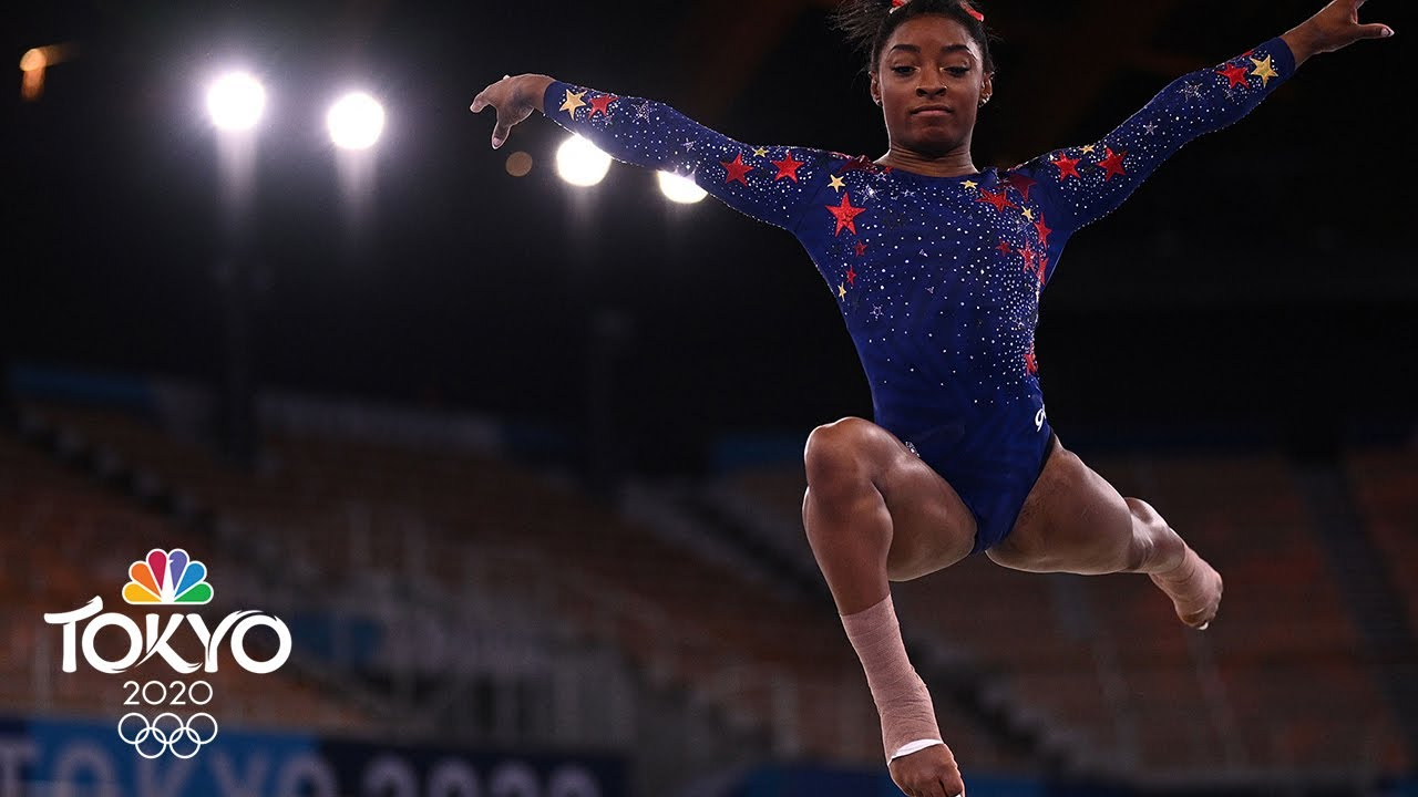 Simone Biles flies right off floor surface during qualifying routine | Tokyo Olympics | NBC Sports
