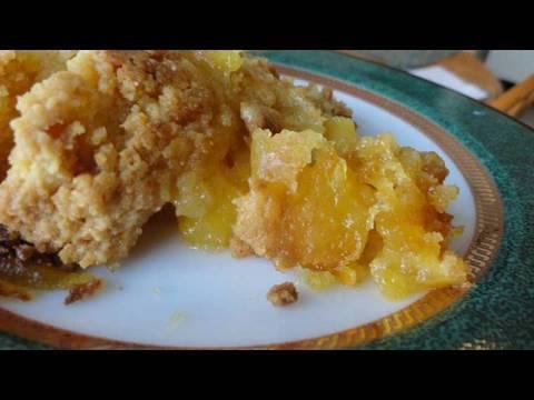 Recipes Using Cake Mixes #14:  Easy Fresh Peach Cobbler