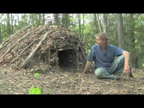 Survival Skills - Debris Shelter - Earth School