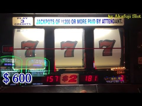 BIG WIN and Again and Again Live★BLAZING 7's $2 Slot Max Bet $6 at Barona Casino CA, Akafuji slot