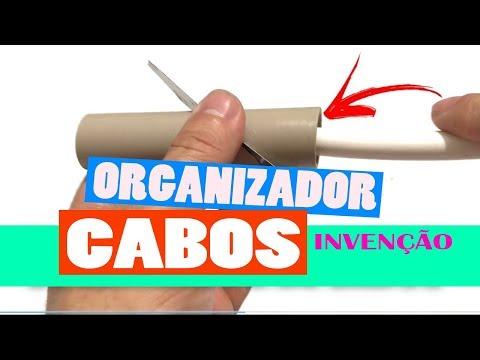 COMO ORGANIZAR OS FIOS E CABOS DO COMPUTADOR - TELEVISÃO - HOME THEATER - RACK SEM GASTAR NADA - DIY