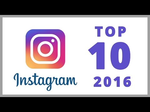 Top 10 most popular Instagram accounts 2016