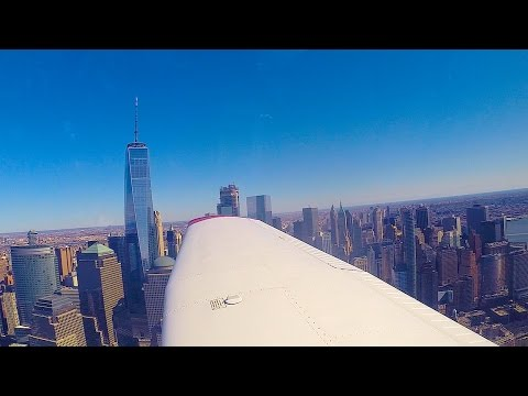 Piper Archer - Turbulence with Amazing New York Views (HD) (Go Pro)