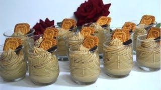 تحلية ايطالية كريمية خطيرة يا سلاام 😋 مبهرة مكونات بسيطة والطعم خياااال روووووعة 😋😋