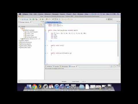 Applet - Sorting an Integer or String Array