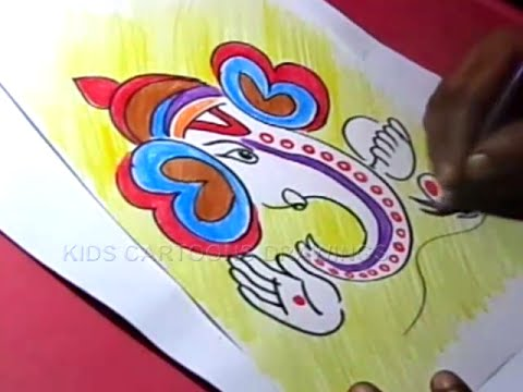 How to Draw Simple Ganesha Drawing for Kids Step by step