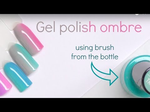 How to : gel polish ombre (fade) tutorial - NO special brushes or sponges