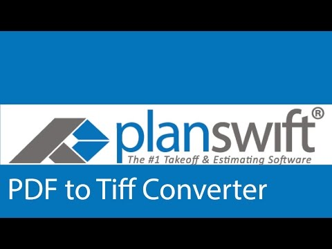 Using the PDF to TIFF Converter in PlanSwift