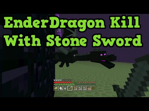 Minecraft Xbox 360 / PS3 How To Kill Ender Dragon Easy (Stone Sword)