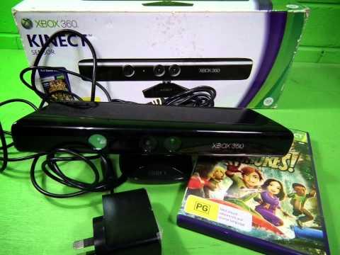 P59383 - MICROSOFT Xbox 360 official Kinect Sensor Camera *VGC!* + Warranty! Inc Game&PSU