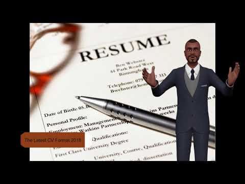 How To Write The Latest CV Format 2018