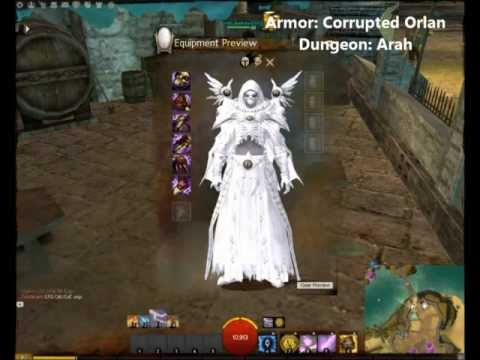 Guild Wars 2 All Dungeon Armor Sets - Light, Exotic - Human Elementalist Male