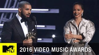 Drake Presents Rihanna w/ Vanguard Award | 2016 Video Music Awards | MTV