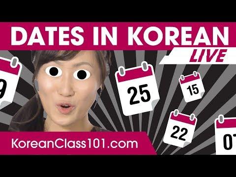How to Read Dates in Korean? | Learn Korean