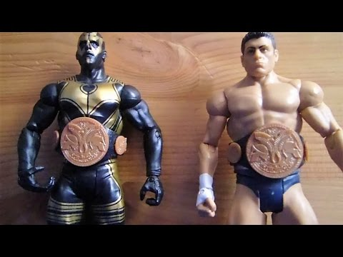 WWE figure review  battle pack Cody Rhodes and Goldust with tag team championship