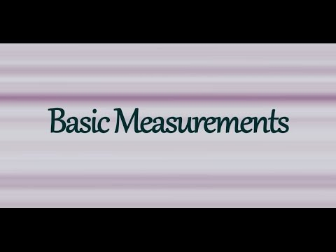 How To Take Basic Measurements Tutorial - For Sewing, Pattern Making, Dressmaking, & Clothing Design