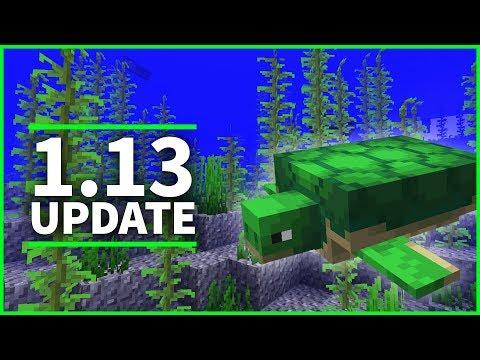 🐢 Minecraft 1.13 Update - TURTLES, KELP & SWIMMING! Minecraft 1.13 Snapshot 18w07a