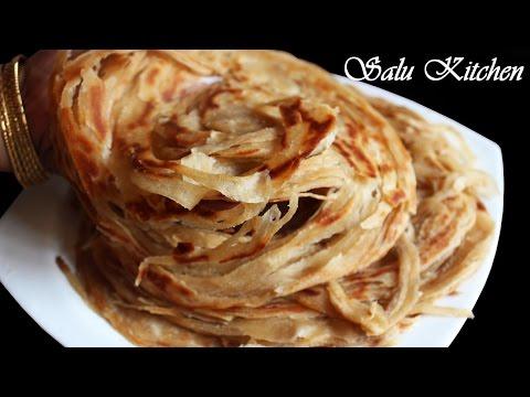 Whole Wheat Lachha Paratha / Flaky Layered Parotta