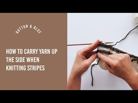 How to avoid cutting the yarn to change colour when knitting stripes